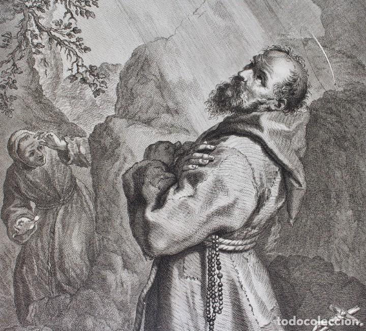Arte: ELEGANTE GRABADO RELIGIOSO-SAN FRANCISCO DE ASIS- P.P RUBENS PINXIT-FRAN PETRUCCI DEL-ID PICCHIANTI - Foto 3 - 190143953
