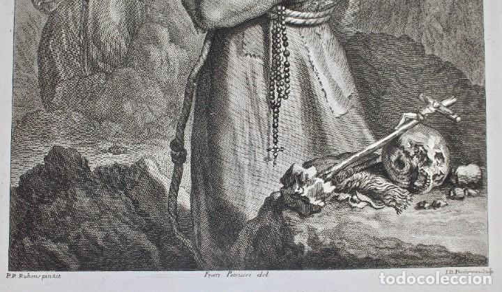 Arte: ELEGANTE GRABADO RELIGIOSO-SAN FRANCISCO DE ASIS- P.P RUBENS PINXIT-FRAN PETRUCCI DEL-ID PICCHIANTI - Foto 4 - 190143953