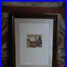 Arte: GRABADO DE MARIANO CASTILLO AGUAFUERTE Y AGUATINTA. Lote 190145427
