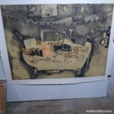 Arte: ENORME GRABADO DE JORGE CASTILLO.49/60.OBRA DE 1991.. Lote 190174541