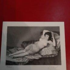 Arte: MAJA GOYA GRABADO 76/1000 J.VALLINOT FABRICA DE MONEDA Y TIMBRE. Lote 190223096