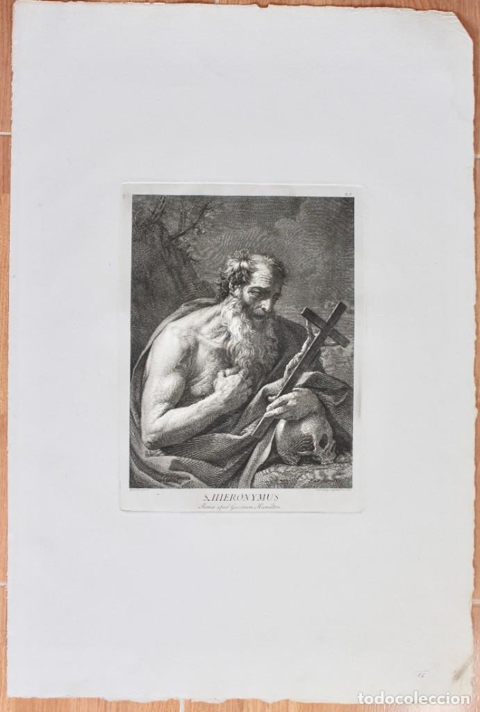 ESPECTACULAR GRABADO- SAN JERÓNIMO-S.HIERONYMUS -LAMINA 35- GUIDO REMI- DOM.O CUNEGO SCULPSIT 1769 (Arte - Grabados - Antiguos hasta el siglo XVIII)