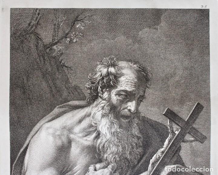 Arte: ESPECTACULAR GRABADO- SAN JERÓNIMO-S.HIERONYMUS -LAMINA 35- GUIDO REMI- Dom.o Cunego sculpsit 1769 - Foto 3 - 190226831