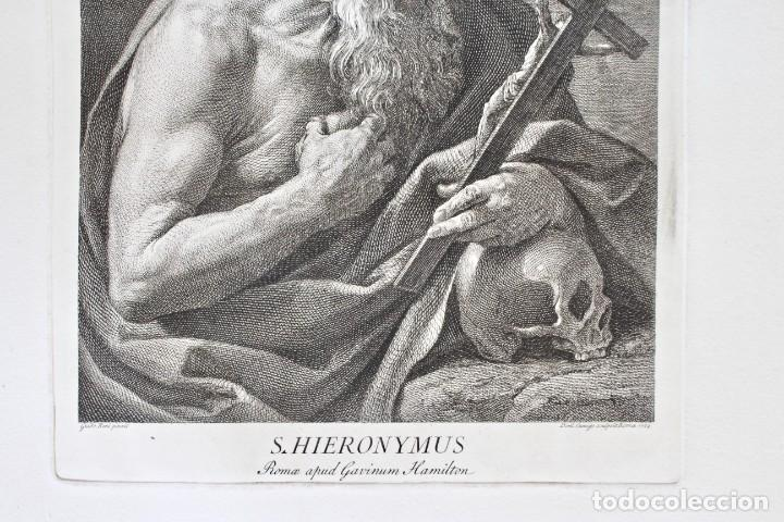 Arte: ESPECTACULAR GRABADO- SAN JERÓNIMO-S.HIERONYMUS -LAMINA 35- GUIDO REMI- Dom.o Cunego sculpsit 1769 - Foto 4 - 190226831