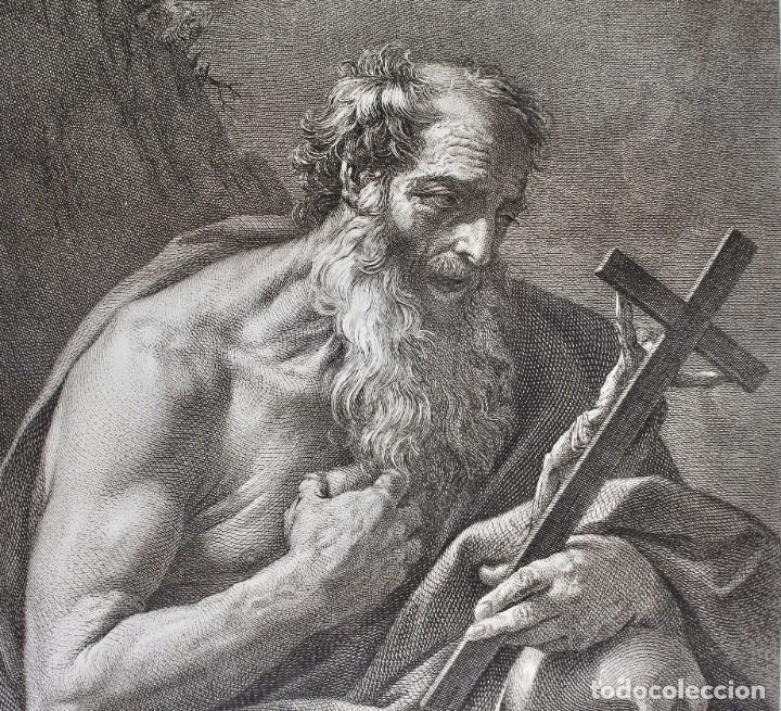 Arte: ESPECTACULAR GRABADO- SAN JERÓNIMO-S.HIERONYMUS -LAMINA 35- GUIDO REMI- Dom.o Cunego sculpsit 1769 - Foto 5 - 190226831