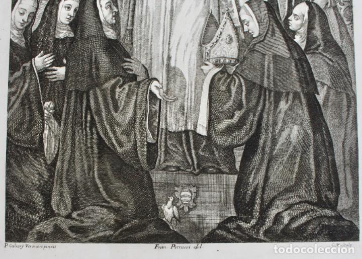 Arte: ELEGANTE GRABADO RELIGIOSO-P. CALIARY VERONESE PINXIT- FRAN. PETRUCCI DEL- C.M. SCULP - Foto 4 - 190347031