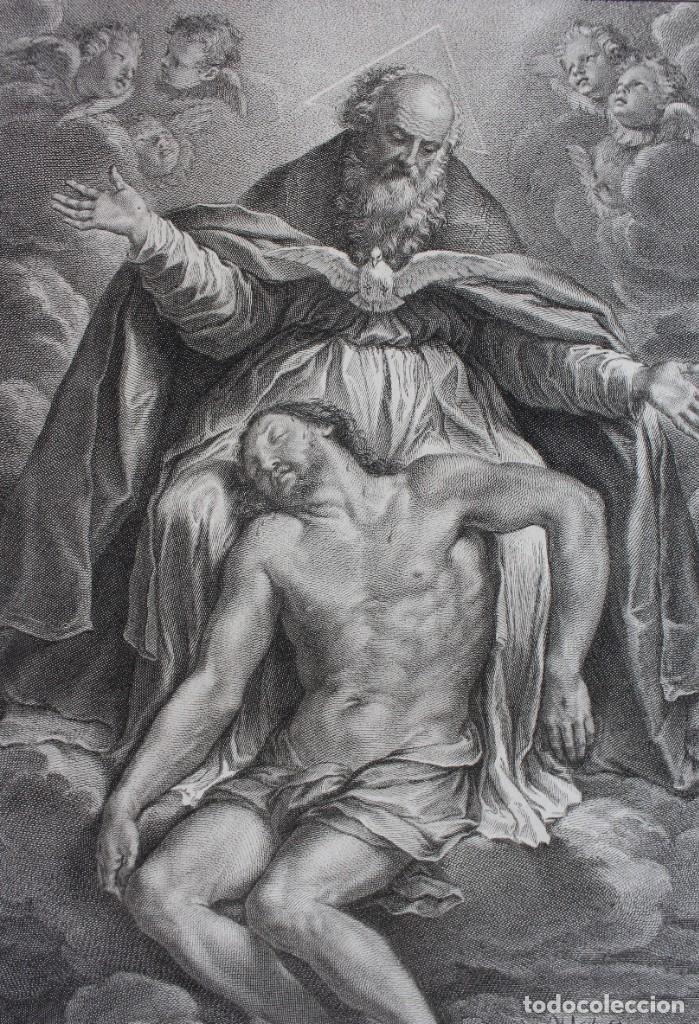 Arte: ESPECTACULAR GRABADO RELIGIOSO- S. JOANN C.3.16- EX TABULA GUIDI RENI-IAC.FREIJ DELIN.ET INC -1734 - Foto 3 - 190349121