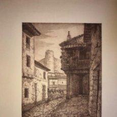 Arte: ARENAS DE SAN PEDRO- AVILA- AGUAFUERTE- JAIME POY- AÑO 1.953. Lote 190350305