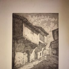 Arte: CACERES- SOLAR DE CONQUISTADORES- AGUAFUERTE- JAIME POY- AÑO 1.953. Lote 190350801