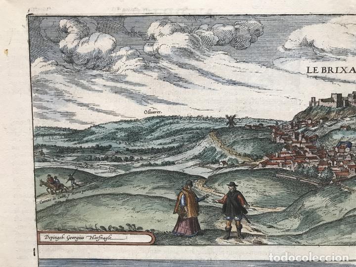 Arte: Gran vista de Lebrija (Sevilla) y Setenil (Cádiz) en España, 1575. Hoefnagel/Braun/Hogenberg - Foto 3 - 190373458