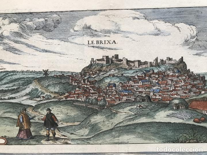 Arte: Gran vista de Lebrija (Sevilla) y Setenil (Cádiz) en España, 1575. Hoefnagel/Braun/Hogenberg - Foto 4 - 190373458
