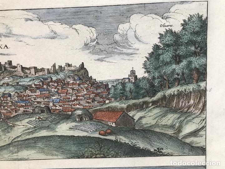Arte: Gran vista de Lebrija (Sevilla) y Setenil (Cádiz) en España, 1575. Hoefnagel/Braun/Hogenberg - Foto 5 - 190373458