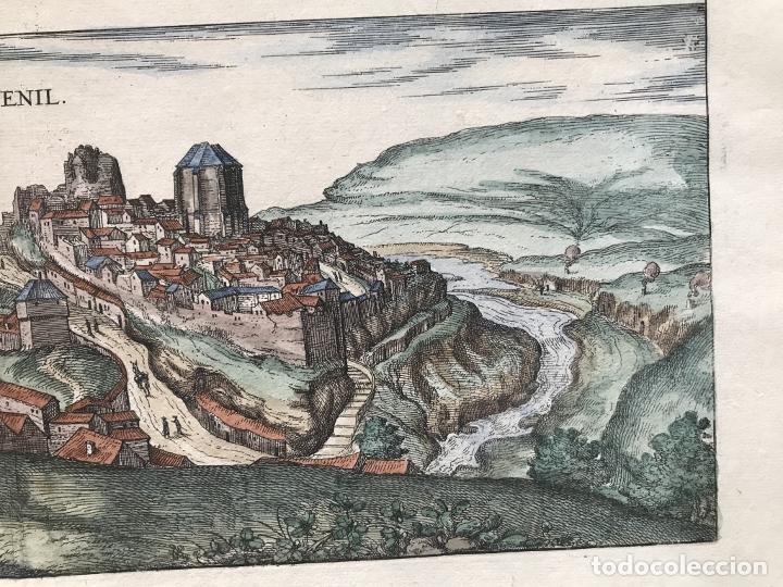 Arte: Gran vista de Lebrija (Sevilla) y Setenil (Cádiz) en España, 1575. Hoefnagel/Braun/Hogenberg - Foto 6 - 190373458