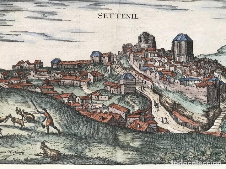 Arte: Gran vista de Lebrija (Sevilla) y Setenil (Cádiz) en España, 1575. Hoefnagel/Braun/Hogenberg - Foto 7 - 190373458
