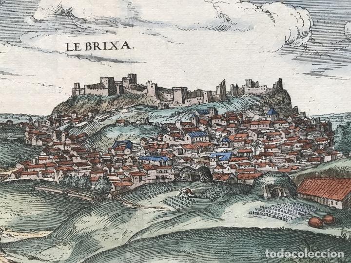 Arte: Gran vista de Lebrija (Sevilla) y Setenil (Cádiz) en España, 1575. Hoefnagel/Braun/Hogenberg - Foto 9 - 190373458