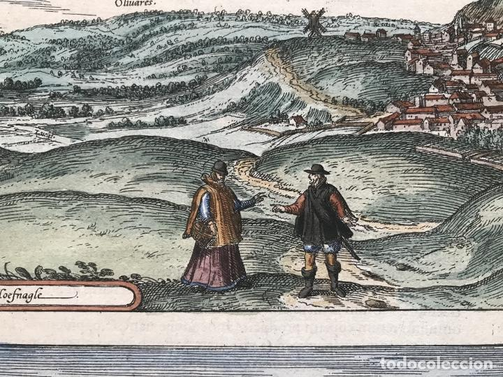 Arte: Gran vista de Lebrija (Sevilla) y Setenil (Cádiz) en España, 1575. Hoefnagel/Braun/Hogenberg - Foto 10 - 190373458
