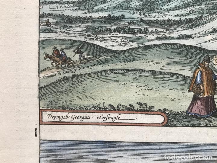 Arte: Gran vista de Lebrija (Sevilla) y Setenil (Cádiz) en España, 1575. Hoefnagel/Braun/Hogenberg - Foto 11 - 190373458