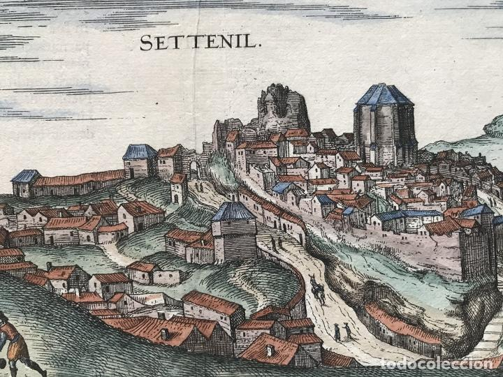 Arte: Gran vista de Lebrija (Sevilla) y Setenil (Cádiz) en España, 1575. Hoefnagel/Braun/Hogenberg - Foto 12 - 190373458