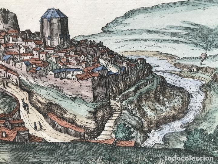 Arte: Gran vista de Lebrija (Sevilla) y Setenil (Cádiz) en España, 1575. Hoefnagel/Braun/Hogenberg - Foto 13 - 190373458