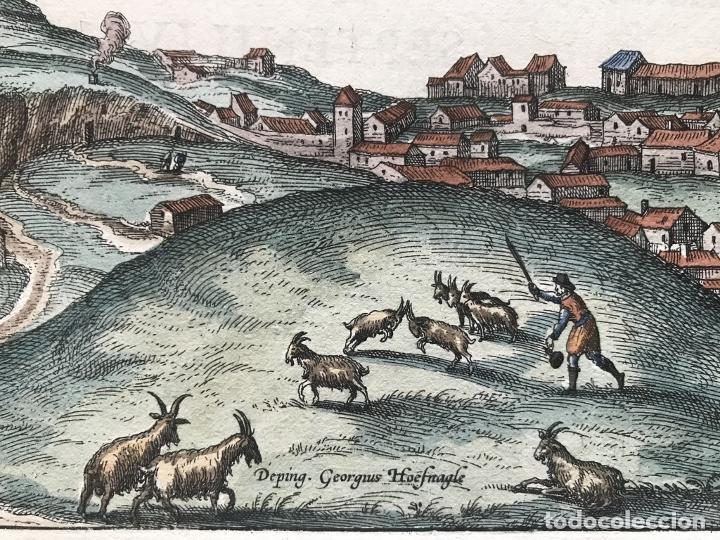 Arte: Gran vista de Lebrija (Sevilla) y Setenil (Cádiz) en España, 1575. Hoefnagel/Braun/Hogenberg - Foto 14 - 190373458