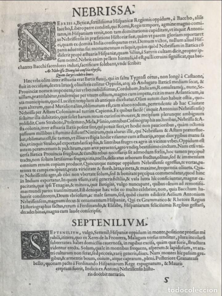 Arte: Gran vista de Lebrija (Sevilla) y Setenil (Cádiz) en España, 1575. Hoefnagel/Braun/Hogenberg - Foto 16 - 190373458