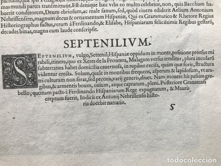 Arte: Gran vista de Lebrija (Sevilla) y Setenil (Cádiz) en España, 1575. Hoefnagel/Braun/Hogenberg - Foto 18 - 190373458