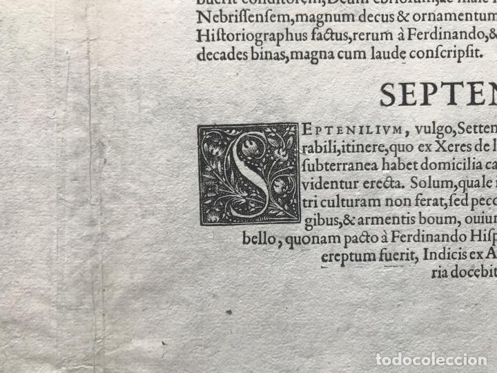 Arte: Gran vista de Lebrija (Sevilla) y Setenil (Cádiz) en España, 1575. Hoefnagel/Braun/Hogenberg - Foto 19 - 190373458