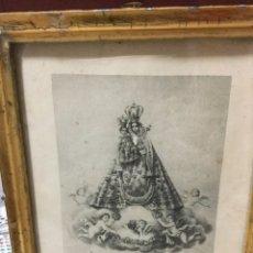 Arte: CUADRO PEQUEÑO DE LA ÉPOCA -GRABADO VIRGEN DE LOS REMEDIOS. Lote 190376465