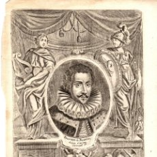 Arte: GRABADO CALCOGRAFICO FRANCISCO DE FRANCIA, DUQUE D'ANJOU. SIGLO XVIII. Lote 190420683