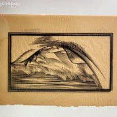 Arte: GRABADO A LA MADERA FIRMADO Y NUMERADO. Lote 16660632