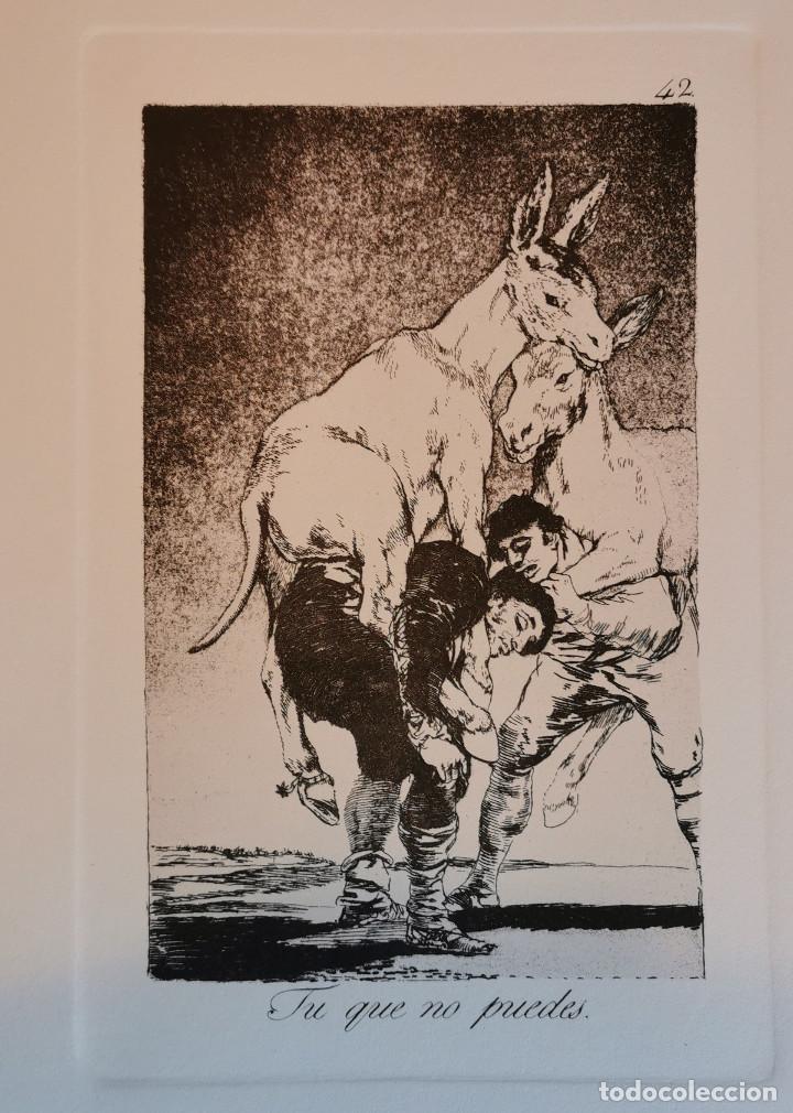Arte: Goya,Los Caprichos n.42 Tu que no puedes,aguafuerte original directo de plancha con certificado - Foto 4 - 212763663
