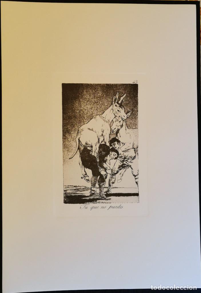 Arte: Goya,Los Caprichos n.42 Tu que no puedes,aguafuerte original directo de plancha con certificado - Foto 5 - 212763663