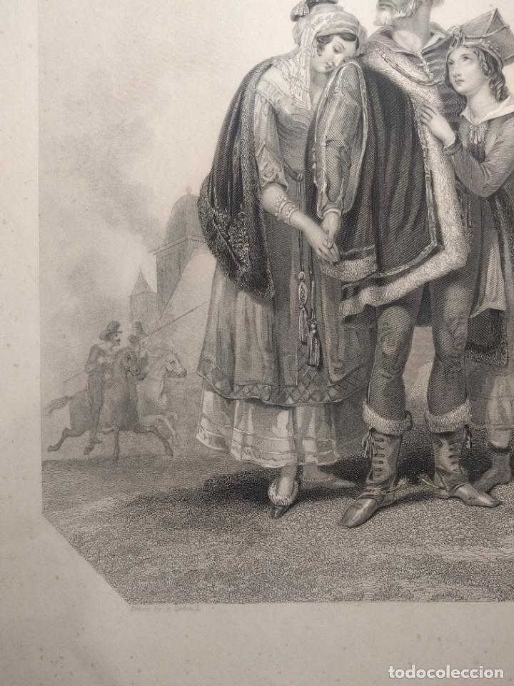 Arte: Costumbres del universo. Las lágrimas de Polonia. Grabado de H. Corbould y E. Finden. 1850 h. - Foto 2 - 190707703