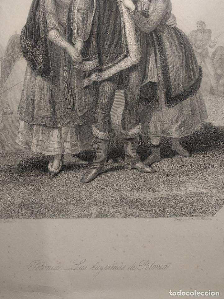Arte: Costumbres del universo. Las lágrimas de Polonia. Grabado de H. Corbould y E. Finden. 1850 h. - Foto 3 - 190707703