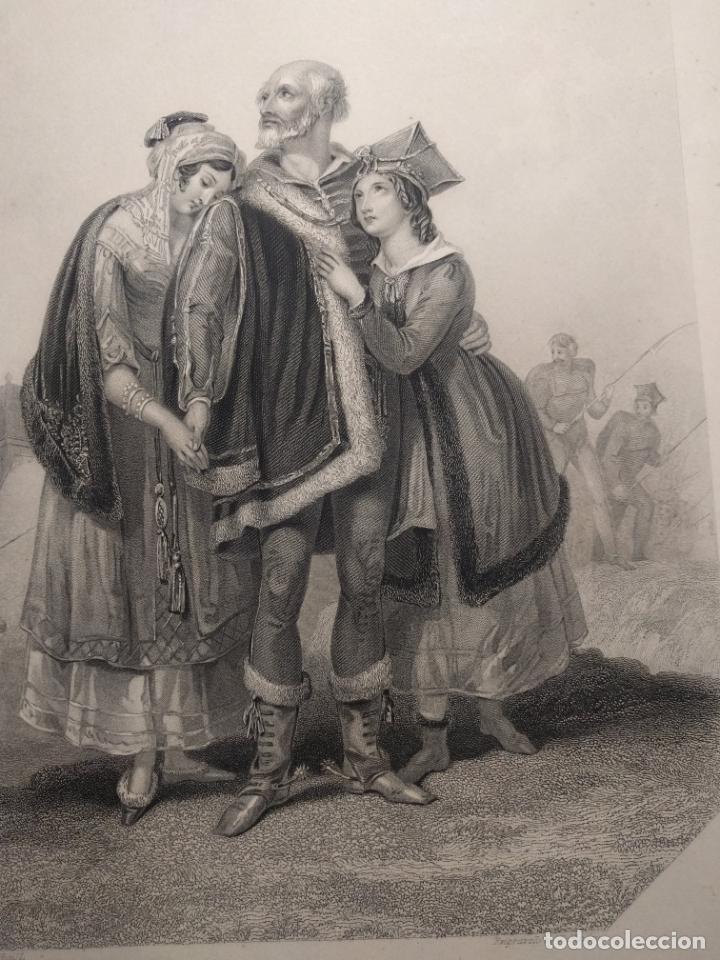 Arte: Costumbres del universo. Las lágrimas de Polonia. Grabado de H. Corbould y E. Finden. 1850 h. - Foto 4 - 190707703