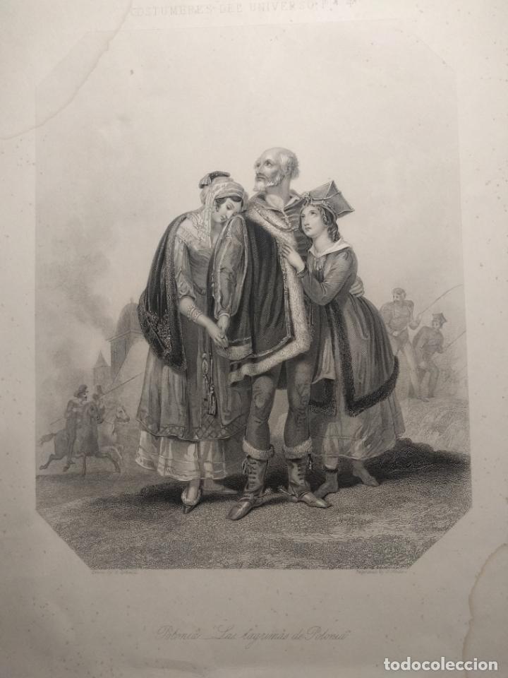 Arte: Costumbres del universo. Las lágrimas de Polonia. Grabado de H. Corbould y E. Finden. 1850 h. - Foto 5 - 190707703