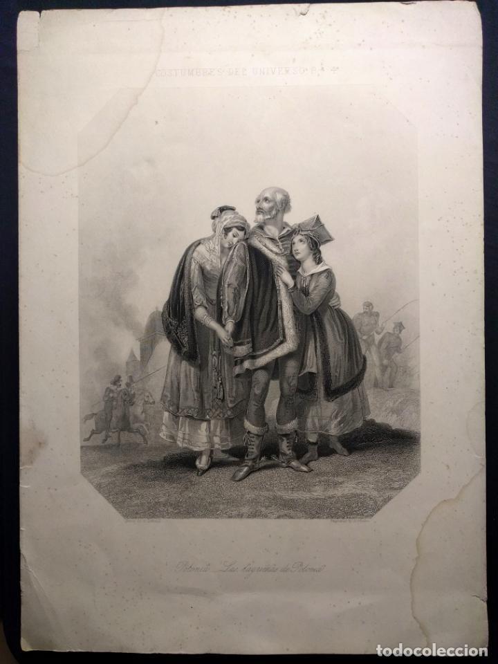 COSTUMBRES DEL UNIVERSO. LAS LÁGRIMAS DE POLONIA. GRABADO DE H. CORBOULD Y E. FINDEN. 1850 H. (Arte - Grabados - Modernos siglo XIX)