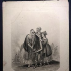 Arte: COSTUMBRES DEL UNIVERSO. LAS LÁGRIMAS DE POLONIA. GRABADO DE H. CORBOULD Y E. FINDEN. 1850 H.. Lote 190707703
