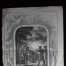 Arte: EL DOS DE MAYO. 1860 H. GRABADO, FIRMADO MARTÍ. FUSILAMIENTOS DEL 2 DE MAYO.. Lote 190707715