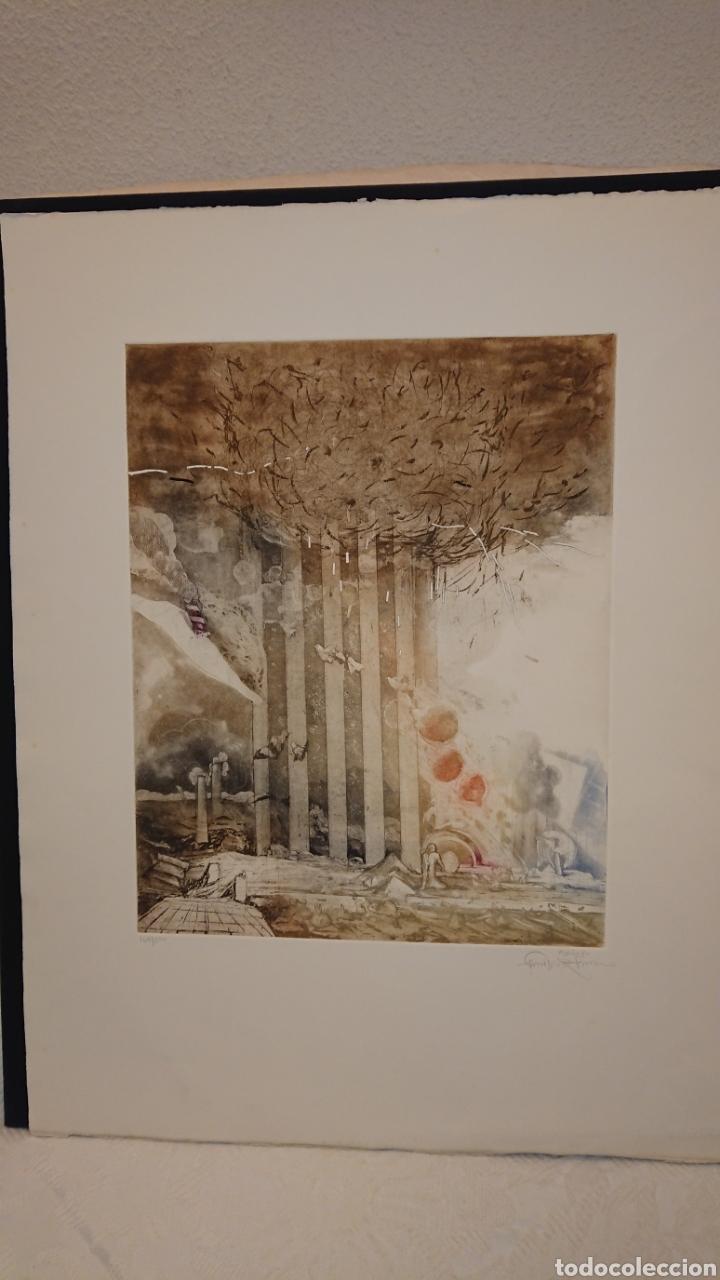 Arte: GRABADO, MONIR ISLAM, DATADO Y FIRMADO A LÁPIZ - Foto 2 - 190783800