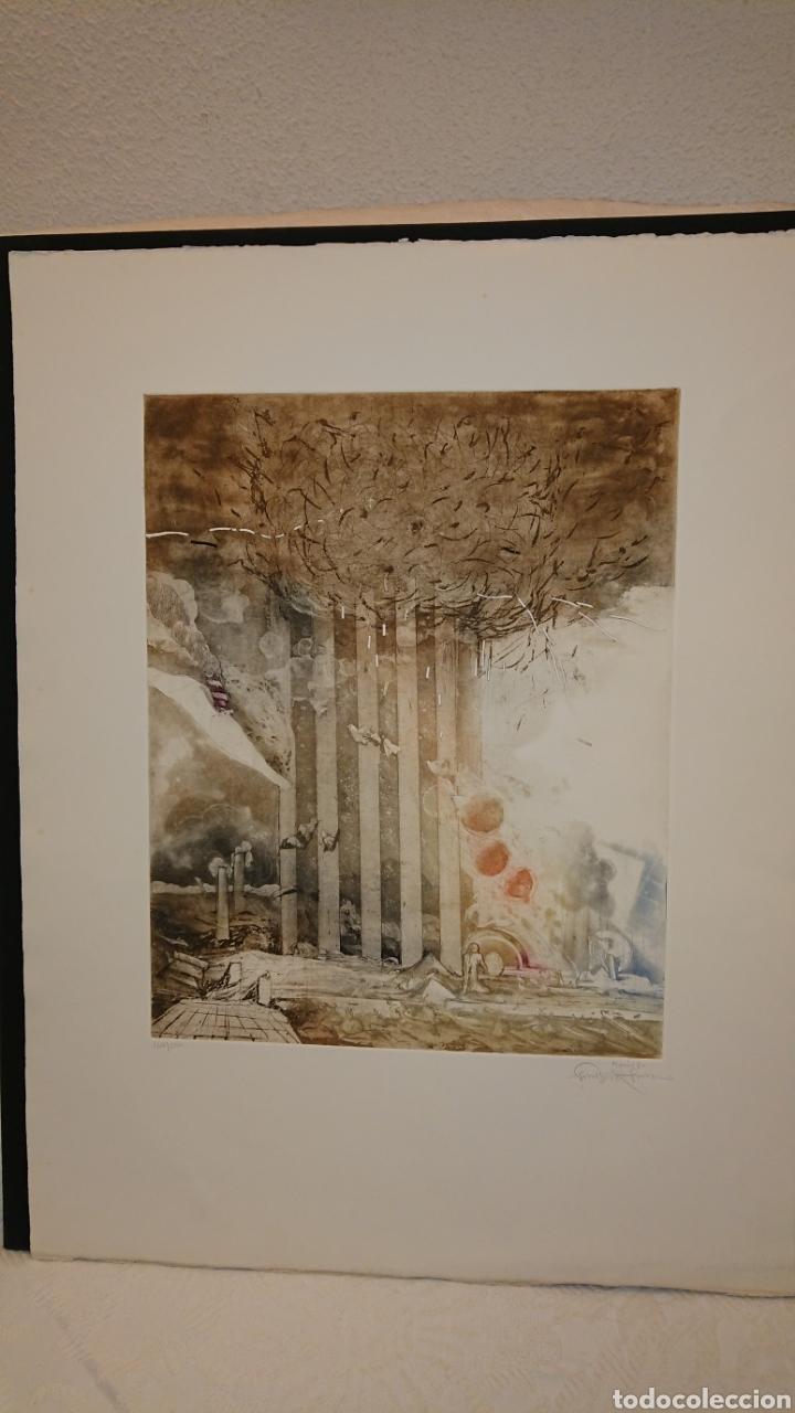 Arte: GRABADO, MONIR ISLAM, DATADO Y FIRMADO A LÁPIZ - Foto 3 - 190783800