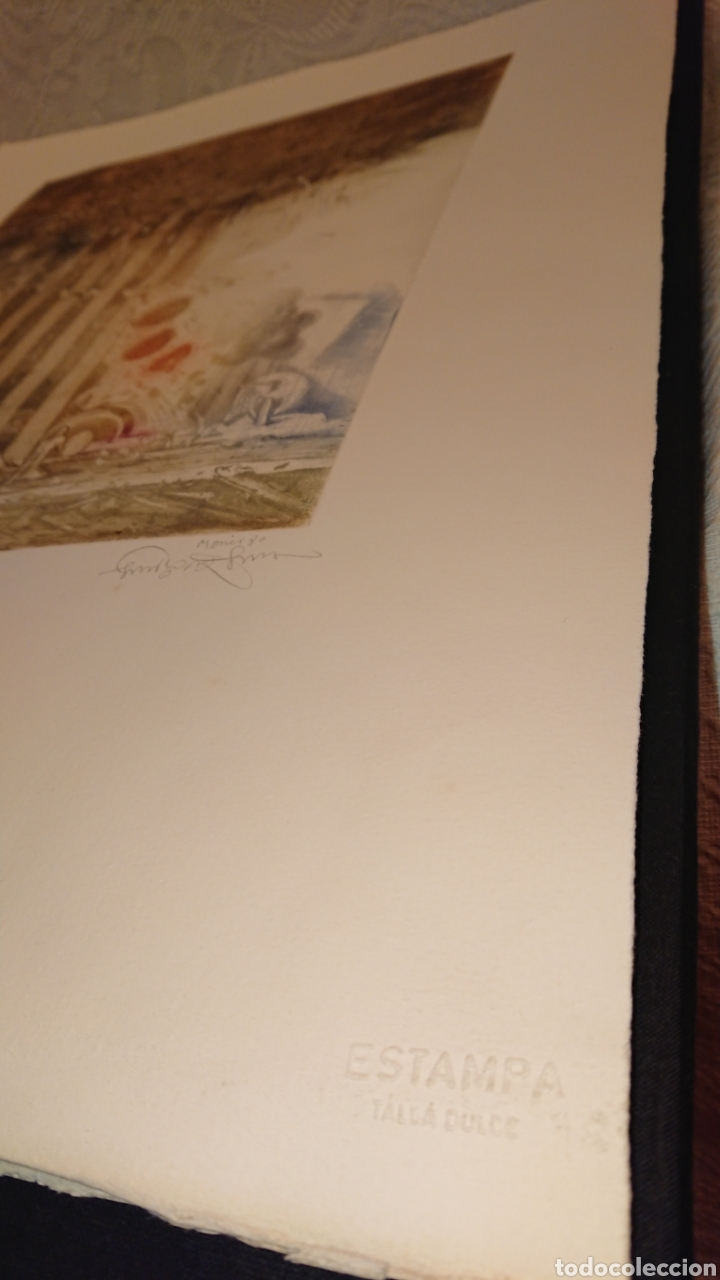 Arte: GRABADO, MONIR ISLAM, DATADO Y FIRMADO A LÁPIZ - Foto 8 - 190783800