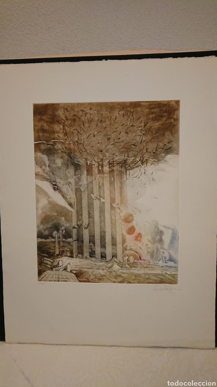 GRABADO, MONIR ISLAM, DATADO Y FIRMADO A LÁPIZ (Arte - Grabados - Contemporáneos siglo XX)