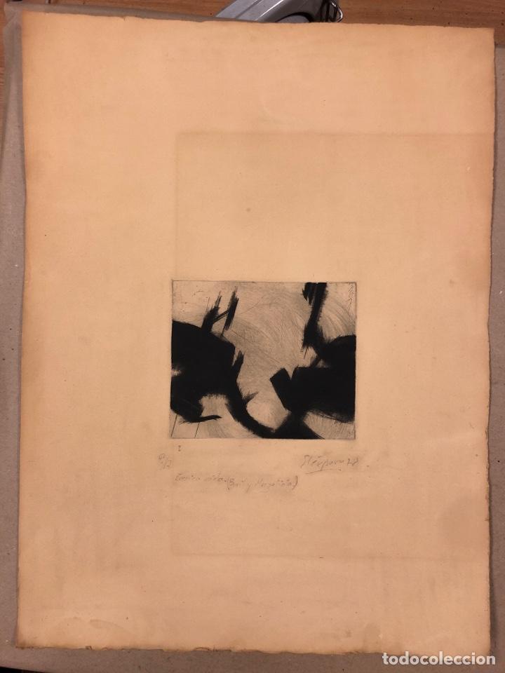 J. M. ELÉXPURU. GRABADO TÉCNICA MIXTA (BURIL Y MEZZOTINTA) DE 1978. CHEMA ELÉXPURU. (Arte - Grabados - Contemporáneos siglo XX)
