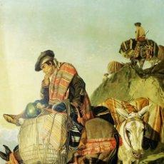 Arte: 1861 - GRAN GRABADO RICHARD ANSDELL - SPANISH CONTRABANDISTA. Lote 190924382