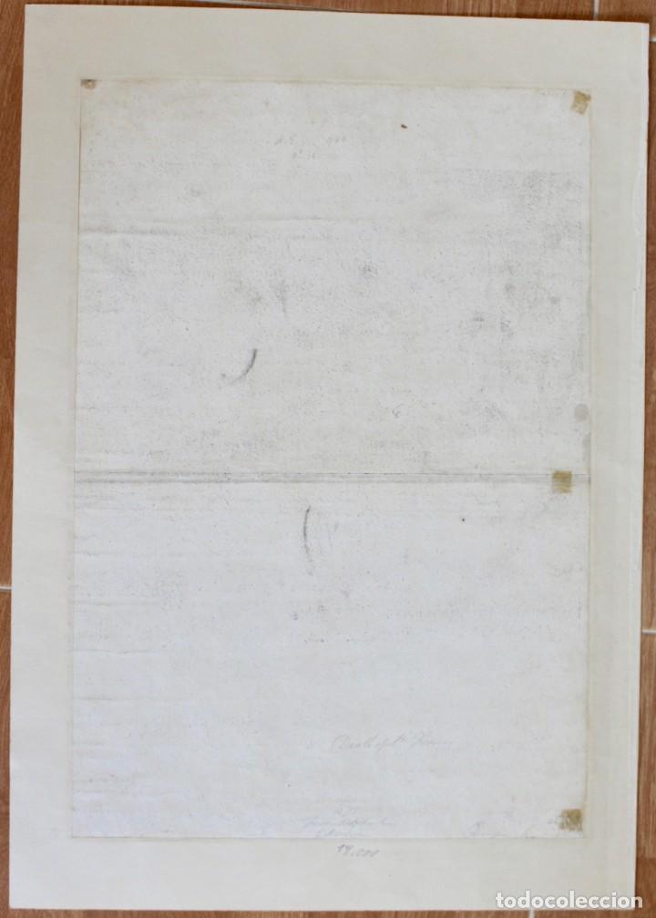 Arte: HERMOSO GRABADO RELIGIOSO- POSIBLEMENTE SAN FRANCISCO- PISADA: 35 X 52 CM. - Foto 5 - 190925558