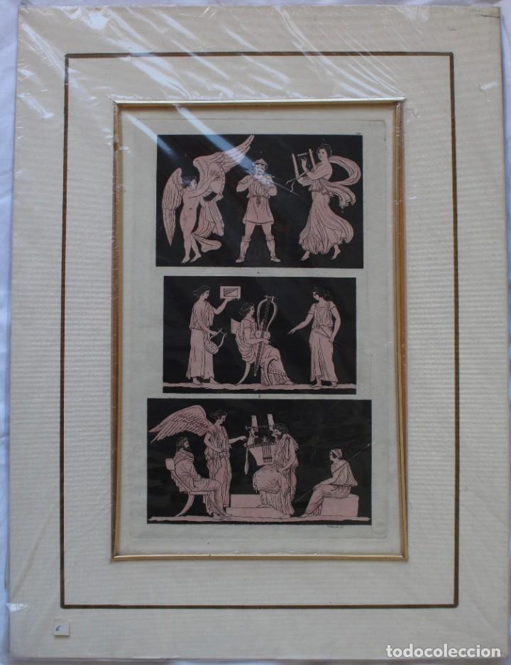 ELEGANTE GRABADO DE D.K.BONATTI ( ACTIVO 1720-1780)- PISADA: 19 X 31,5 CM. (Arte - Grabados - Antiguos hasta el siglo XVIII)