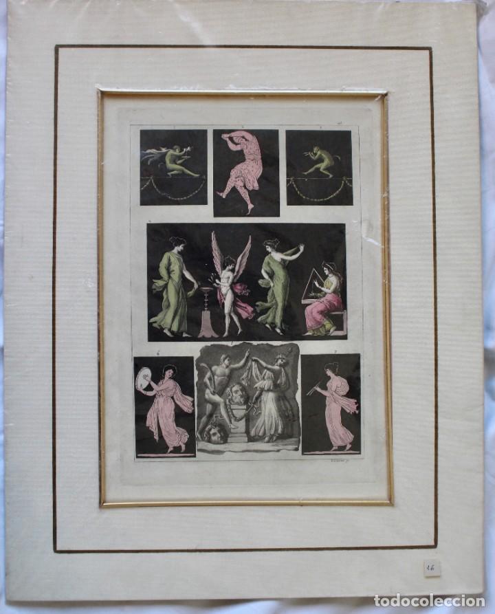 ELEGANTE GRABADO DE D.K.BONATTI ( ACTIVO 1720-1780)- PISADA: 20,5 X 30,5 CM. (Arte - Grabados - Antiguos hasta el siglo XVIII)