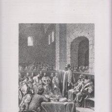 Arte: LITOGRAFÍA. CONCILIO DE ILÍBERIS. GRANADA. 36,5 X 27 CM. AÑO 1871. Lote 191120471