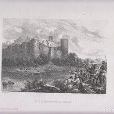 Arte: LITOGRAFÍA. SITIO DE ZARAGOZA POR LOS FRANCOS. 36,5 X 27 CM. AÑO 1871. Lote 191120861